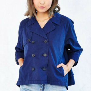 Kimchi Blue Navy Swing Jacket Pea Coat Size Small